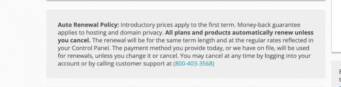 Domain.com Renewal Policy