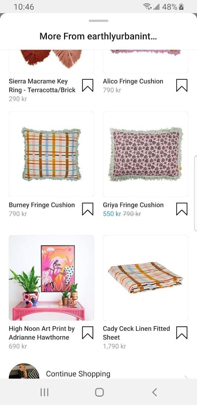 Catalog on Instagram shoppable post