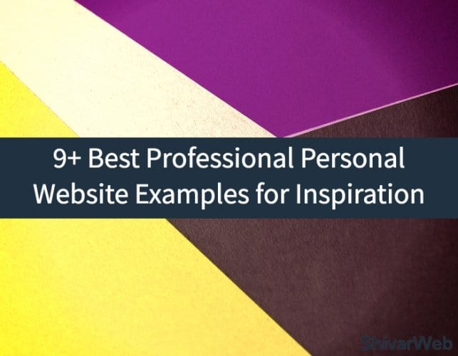 9+ Best Professional Personal Website Examples for Inspiration