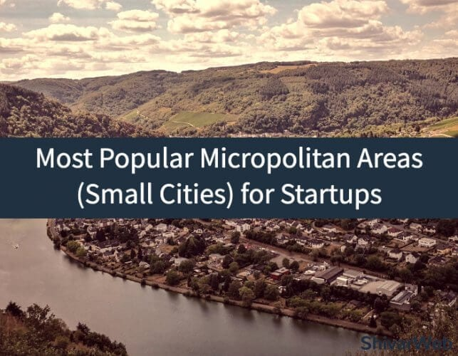 Most Popular Micropolitan Areas (Small Cities) for Startups According to the US Census