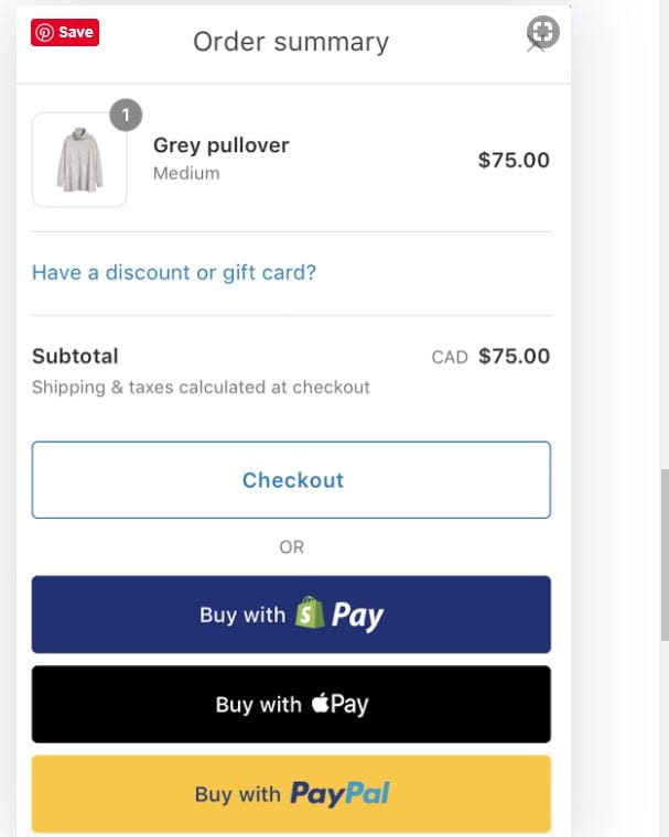 Shopify Pay Store