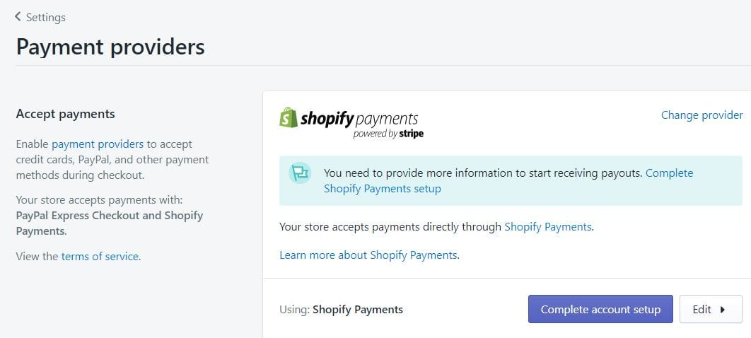 Shopify Payments and Shopify Pay