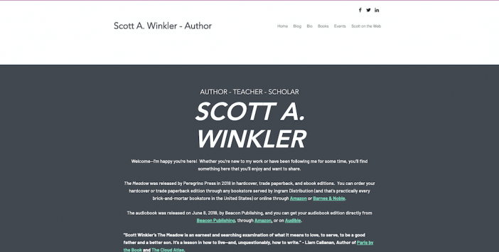 Scott A. Winkler author website