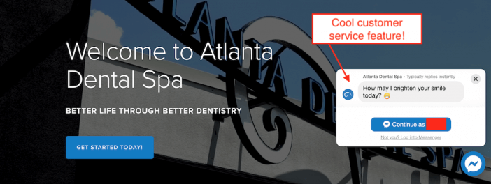 Atlanta Dental Spa Messenger