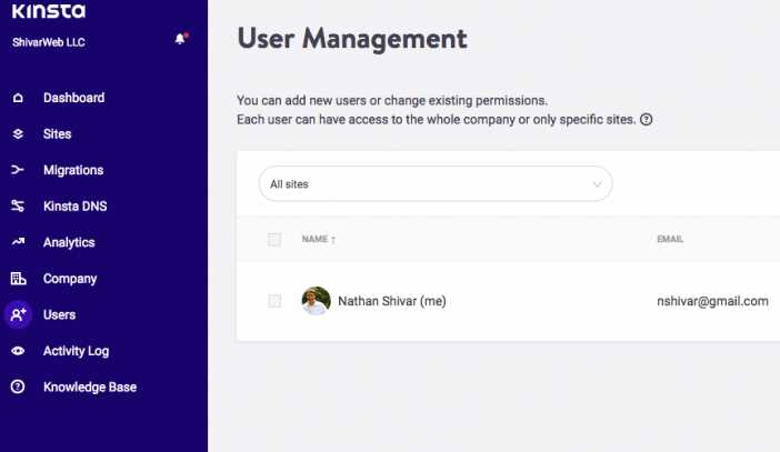 5 Kinsta User Management