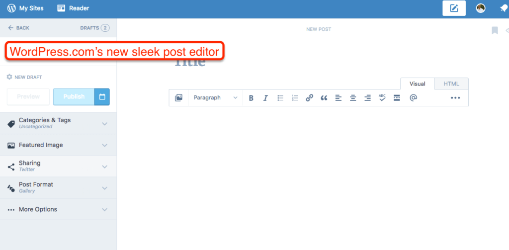 WordPress.com Editor