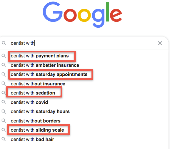Google SERPs Services for Dentists