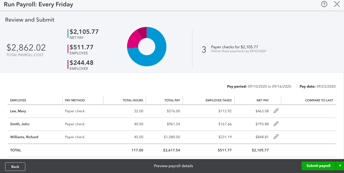 how to run payroll in quickbooks online