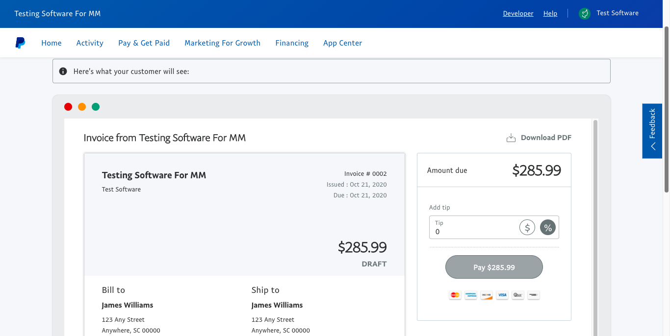 how to get paid with paypal invoicing